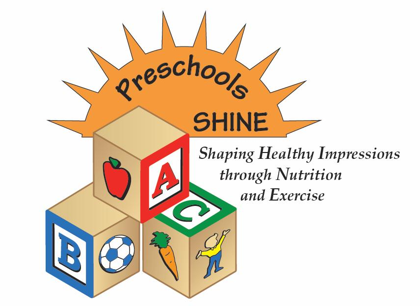 California Preschools Shaping Healthy Impressions through Nutrition and Exercise (SHINE) logo
