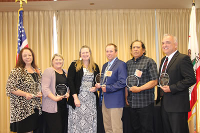 Photo of the five California Classified School Employees of the Year for 2019.