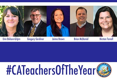 California Teachers of the Year for 2018