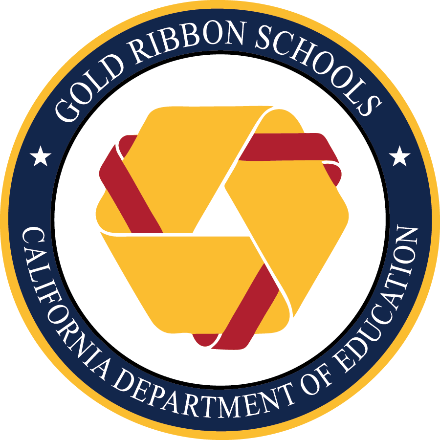 Image result for gold ribbon school logo